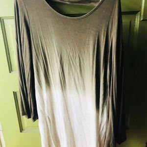 Sandiva Dress Coverup Boho Dip Dye Bell Sleeve M